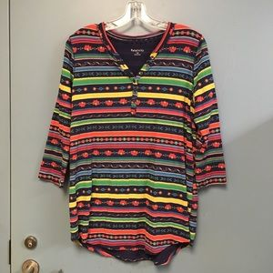 Rainbow Relativity Henley Shirt 1X